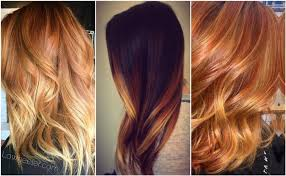 mix red and blonde highlights into