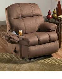Recliner With Cup Holder Rocker Leather Chair    And Storage N89