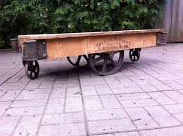 Industrial Factory Cart Coffee Table 17 Best Images About Industrial Antique Factory Cart Coffee Tables