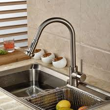 brushed nickel sink. Brilliant Brushed Contemporary Brushed Nickel Kitchen Sink Faucet Deck Mount Pull Out Dual  Sprayer Nozzle Hot Cold Mixer Water Tapsin Faucets From Home Improvement  Inside
