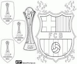 Kleurplaat Fc Barcelona Drievoudig Wereldkampioen Kleurplaten