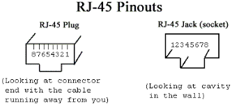 ethernet standards both cat 3 and 5 cables have 4 unshielded twisted pairs of copper wires and use the rj 45 connector as shown below