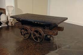 rail cart coffee table rail cart coffee table railway cart coffee table uk