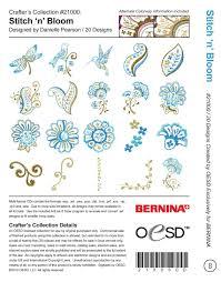 Oesd Machine Embroidery Designs Oesd Stitch N Bloom Machine Embroidery Designs Cd