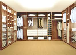 Large Walk In Closet With U Shape Sectional Shelving Organizer Layout Ideas  Design