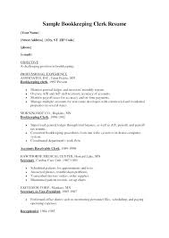 Sample Bookkeeper Resume Best of Bookkeeping Resume Template Bookkeeper Resumes Good Looking