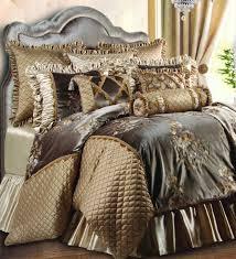 King Bedroom Bedding Sets Luxury Embroidered Velvet Gold And Brown Hue Bedding Sets In King