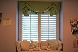 trendy office designs blinds. Interior. Green Roll Up Valance With White Wooden Curtains And Window Sea Pattern Cushion Trendy Office Designs Blinds