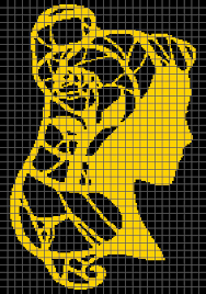 Beauty And The Beast Belle Graph And Row By Row Written Crochet Instructions 02