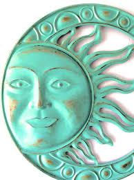 garden decor metal sun sun wall art