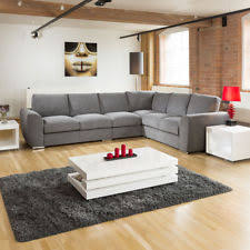 l shaped furniture. Extra Large L Shape Sofa Set Settee Corner Group 335x265cm Grey Shaped Furniture R