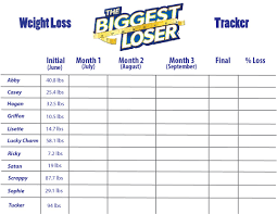 17 Experienced Weight Loss Challenge Tracking Chart