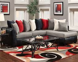 astonishing modern living room sets black grey combination sofa grey cushion red cushion lack cushion white