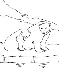 Small Picture Snow polar bear coloring pages printable ColoringStar