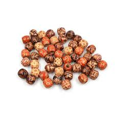 wooden tribal hair beads