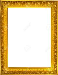 Photo design of gold photo frame on white background Stock Photo - 20985467