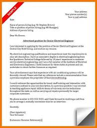 15 16 Electrical Engineering Cover Letter Samples 626reserve Com
