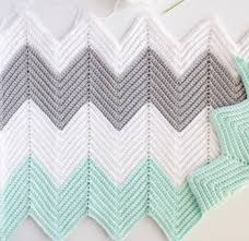 Chevron Crochet Blanket Pattern Extraordinary Crochet Chevron Blanket In Mint Dove And White Daisy Farm Crafts