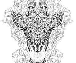 Adult Coloring Pages Giraffe Free Coloring Library