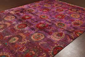 rugsville ikat red amp rust sari silk 30013 8x10 rug