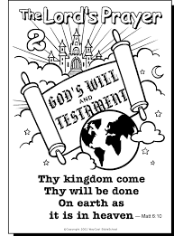 The Lord S Prayer Coloring Pages For Children Coloring Home