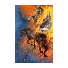 Four Horses of the Apocalypse Digital Art by Amelia Sims
