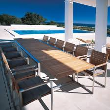 modern outdoor dining furniture. Interesting Furniture Brilliant Modern Teak Outdoor Furniture Royal Botania Ninix Extension  Dining Table On G