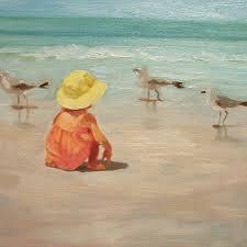 beach painting beach baby by margaret ay