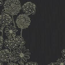 花のイラストフリー素材壁紙背景no278黒バック手書き風