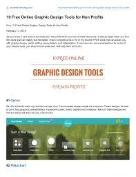 10 free graphic design tools for non profits
