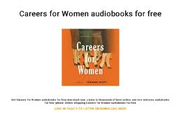Best Careers For Women Careers For Women Audiobooks For Free
