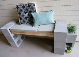 cinderblock furniture. Cinderblock Furniture. 3. Make Yourself An Outdoor Patio Bench Furniture