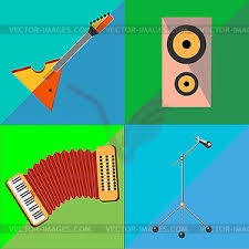 Two Tone Icons Set Icons On Musical Instruments Two Tone Background Vector Clip Art