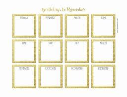 Birthday Anniversary Calendar Printable Birthday Calendar Template My Indian Version Birthday