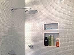 white glass mini subway tile shower walls tilehub