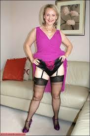 Mature plump sexy stocking