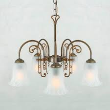traditional chandelier glass polished brass led