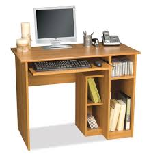 Amazon.com: Computer Workstation w Desk & Open Cubbies - Basic: Kitchen &  Dining