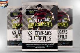 flyer heroes flyerheroes sports flyer template collection touch football tour nt