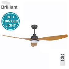 bahama dc ceiling fan with led light remote charcoal motor with maple blades 52