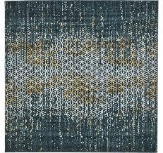 6 x 6 illusion square rug