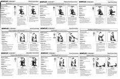 Bowflex Pr3000 Workout Chart 24 Best Bowflex Images Bowflex Workout At Home Gym