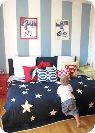 Striped Bedroom Curtains Kids Room Curtains Blue