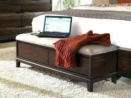 upholstered bedroom bench brown wooden foot bed bench bed foot chest