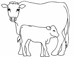 Small Picture Page For Kids Animal Printables Small Coloring Pages Cow Cow