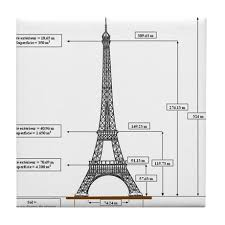 eiffel tower size dimensions of eiffel tower tile coaster by bluesyworld
