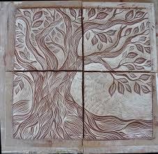 ceramic tile art tree. Contemporary Tree Tree Of Life Ceramic Tile Art Unglazed U2013 Natalie Blake Studios With Ceramic Tile Art E