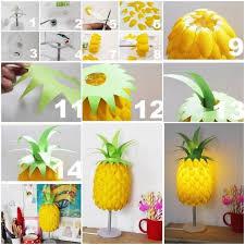 diy plastic spoon pineapple lampshade 1 718x718