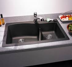 granite drop in sink.  Sink Swanstone QZLS3322170 Granite LargeSmall Double Bowl DropIn Kitchen With Drop In Sink N