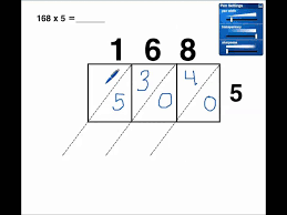 Lattice Multiplication 1 digit x 3 digit(no regrouping) - YouTube